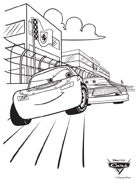 disney cars race coloring page crayolacom