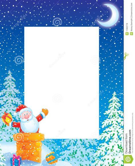 christmas photo frame border  santa claus royalty