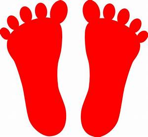 Red Footprints Clip Art at Clker.com - vector clip art ...