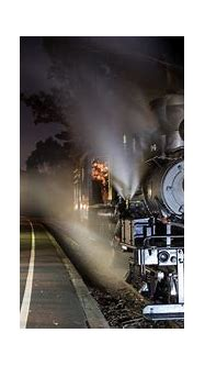 railway, Train, Trees, Train station, Steam locomotive ...