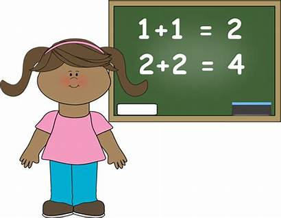 Easy Clip Clipart Math Doing Children Students