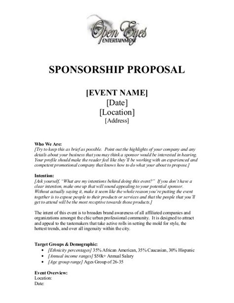 sponsor proposal template  piece