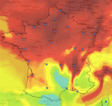 Carte Pollution Europe by Carte De Avec Le Pic De Pollution Janvier 2017
