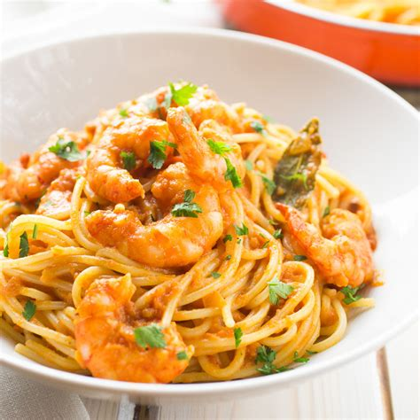 spicy shrimp pasta spicy tomato and shrimp pasta the girl loves to eat