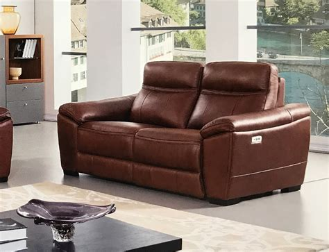 tan leather reclining sofa forma full italian brown leather power recliner loveseat