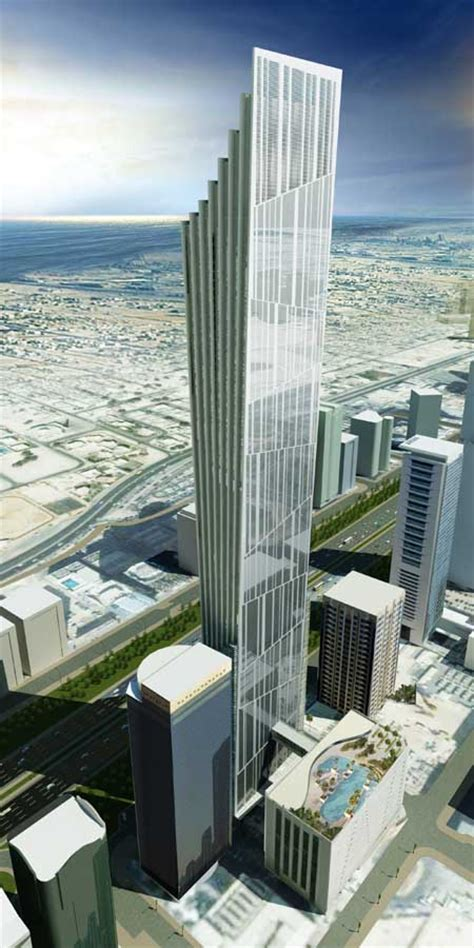 p  tower dubai uae skyscraper design  architect