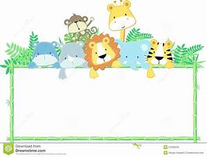 Animal border clipart - Clipart Collection | Baby safari ...