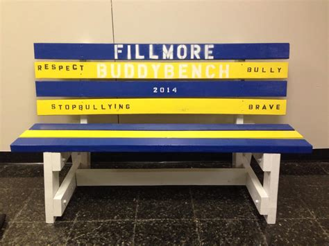 buddy bench for buddy benches fillmore elementary school