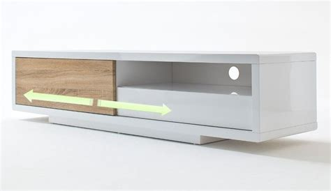 meuble tv laque blanc avec porte coulissante id 233 es de