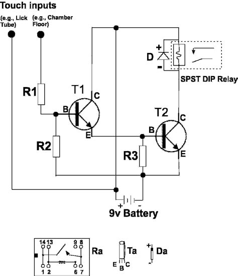 Battery Operated Touch Detector Circuit