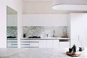 Cuisine En Marbre : cuisine marbre blanc ~ Melissatoandfro.com Idées de Décoration