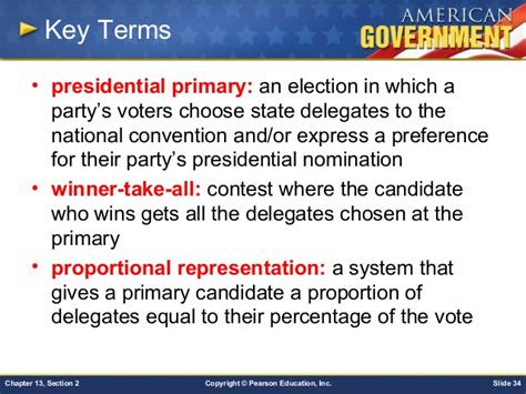 chapter 13 section 4 presidential nominations chapter 13