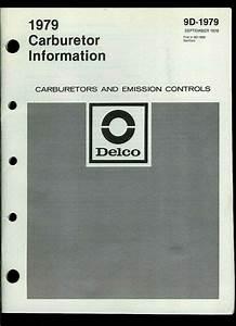 1979 Delco Rochester Carburetor Information Service Manual