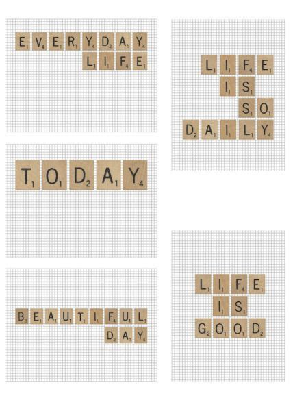scrabble tile printables project life freebies project