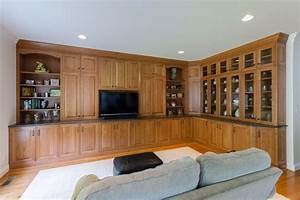 Entertainment Center In A Mid Brown Finish