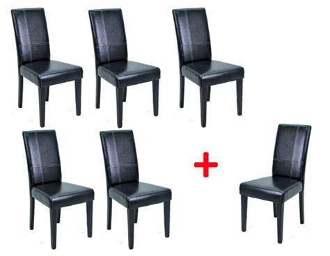 lot de 5 chaises 1 offerte guevara noir