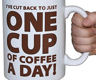 One cup of coffee (and a cigarette). One Cup of Coffee Large Mug