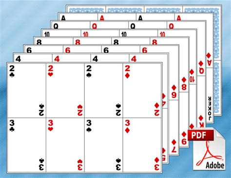 blank playing card template    playing cards