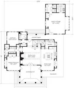 house plans with attached guest house capeside cottage coastal living print southern living house plans