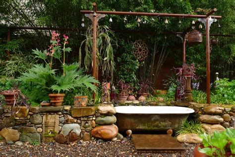 tubs for the garden jeffrey bale s world of gardens bathing in the garden