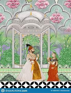Textile Print Mughal Flower Illustration And Plant Vintage