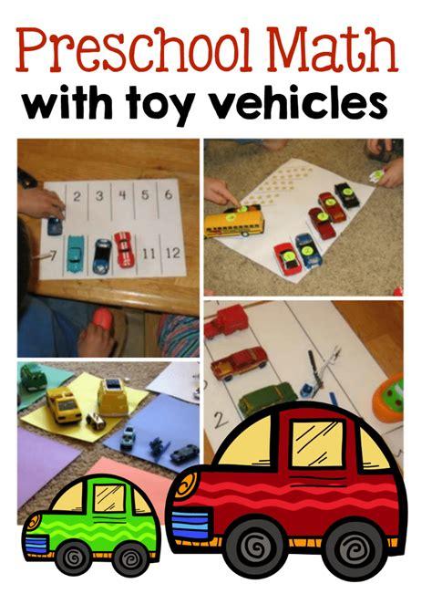 preschool math ideas  toy vehicles