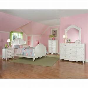 Adrian white 6 piece twin bedroom set for White twin bedroom set