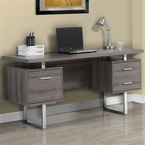 wood office desk reclaimed wood desk 60 inch in desks and hutches