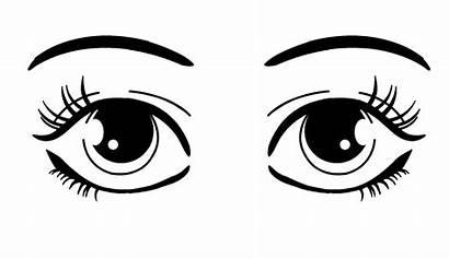 Eyes Cartoon Clipart Clip Eye Looking Drawing