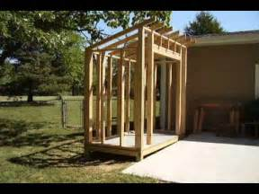 How To Remove Standing Water From Yard by How To Build A Lean To Style Storage Shed Youtube