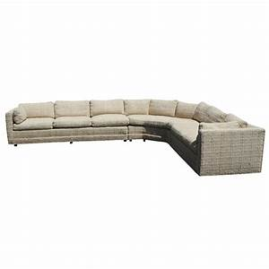 vintage baker corner sectional sofa couch down cushions ebay With baker furniture sectional sofa