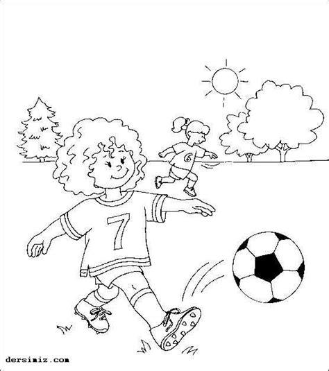 Futbol Sahası Resmi Boyama Resimlere Göre Ara Red