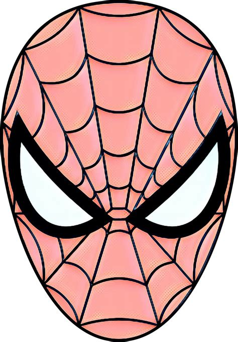spider man drawing coloring book mask superhero png
