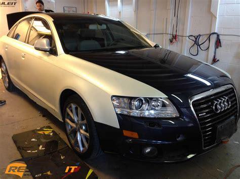 audi  satin pearl white vehicle customization shop