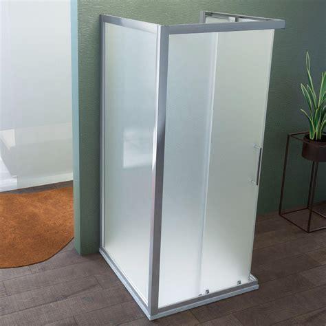 box doccia 3 lati cristallo box doccia 80x100x80cm a tre lati in cristallo da 6 mm