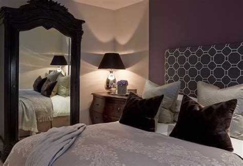 Purple And Brown Bedroom by Purple And Brown Bedroom With Mirrored Armoire