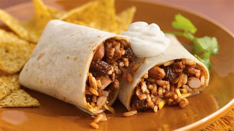 spicy mole pork burritos recipe  pillsburycom