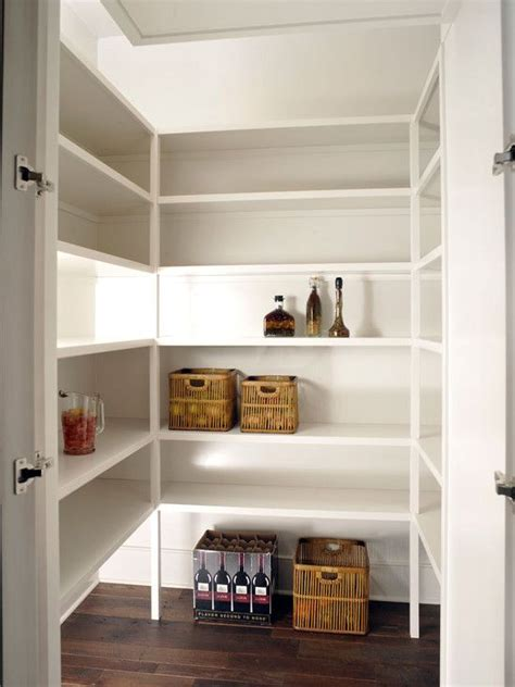 pantry extra lighting  shelves  add outlets