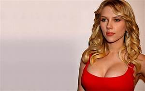 scarlett johansson hot with red dress Top Beauty Magazines