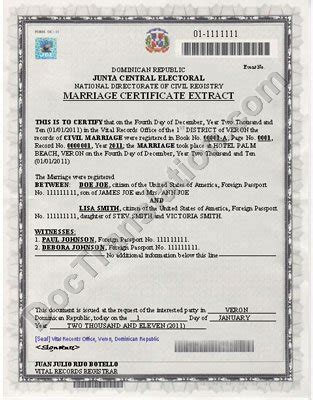 certified translation  dominican republic marriage