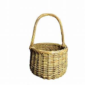 Sweet Little Vintage Wicker Basket with Handle