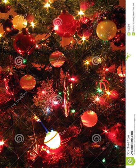 well decorated christmas tree stock images image 7505324