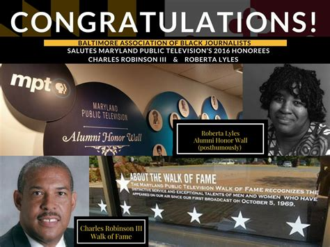 Mpt Honors Babj's Charles Robinson Iii And Roberta Lyles