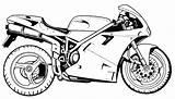 Motorcycle Coloring Motorcycles Printable Ultrafast Raskrasil sketch template
