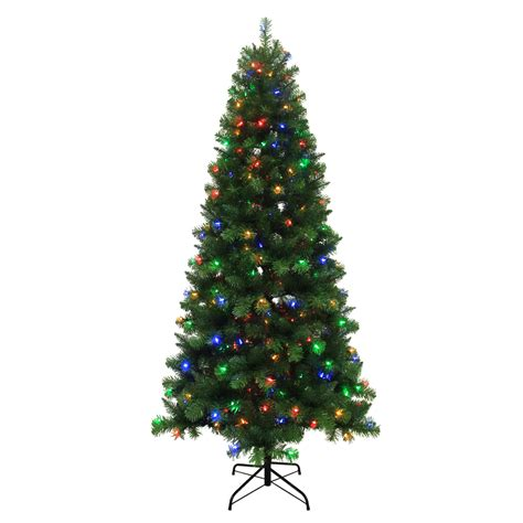 7 5 ft christmas tree with 1000 lights shop holiday living 7 5 ft 789 count pre lit alpine