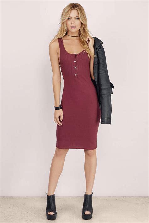 Dress Atasan Tank Top wine bodycon dress sleeveless dress bodycon dress
