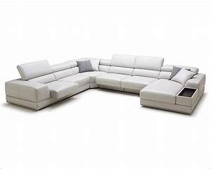 adjustable headrests sectional sofa in contemporary style With leather sectional sofa with adjustable headrest
