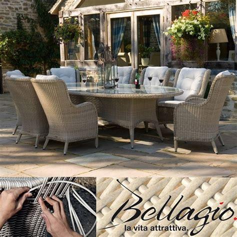 bellagio supremo basilio woven 270 x 120cm oval dining
