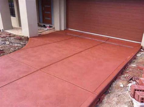 coloured concrete melbourne coloured painted driveways