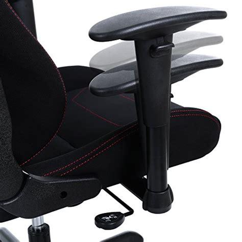 support lombaire bureau songmics chaise gamer fauteuil de bureau racing sport avec